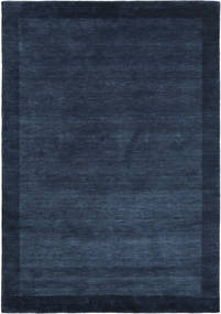 ハンドルーム Frame - 紺色の 絨毯 160X230 モダン 紺色の (ウール, インド)