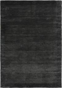 ハンドルーム Frame - 黒/濃いグレー 絨毯 160X230 モダン 黒/濃いグレー (ウール, インド)