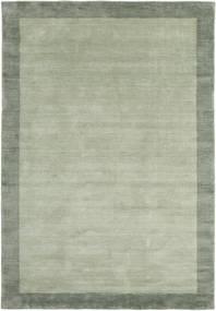 ハンドルーム Frame - グレー/グリーン 絨毯 160X230 モダン ライトグリーン/パステルグリーン (ウール, インド)