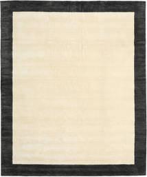 ハンドルーム Frame - 黒/白 絨毯 250X300 モダン ベージュ/濃いグレー 大きな (ウール, インド)