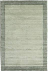 ハンドルーム Frame - グレー/グリーン 絨毯 200X300 モダン ライトグリーン/パステルグリーン (ウール, インド)