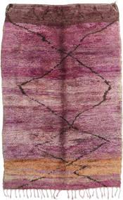 Berber Moroccan - Mid Atlas 絨毯 195X300 モダン 手織り 紫/ライトピンク (ウール, モロッコ)