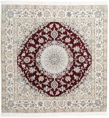 ナイン 9La 絨毯 205X208 オリエンタル 手織り 正方形 (ウール/絹, ペルシャ/イラン)