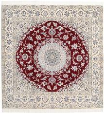 ナイン 9La 絨毯 201X204 オリエンタル 手織り 正方形 薄い灰色/ベージュ (ウール/絹, ペルシャ/イラン)
