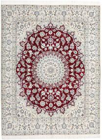 ナイン 9La 絨毯 198X258 オリエンタル 手織り 薄い灰色/ベージュ (ウール/絹, ペルシャ/イラン)