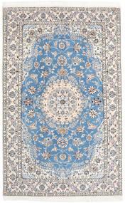 ナイン 9La 絨毯 158X250 オリエンタル 手織り 薄い灰色/ベージュ/水色 (ウール/絹, ペルシャ/イラン)