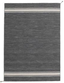 Ernst - 濃いグレー/薄いベージュ 絨毯 140X200 モダン 手織り 濃いグレー (ウール, インド)