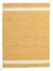 Ernst - マスタード/オフホワイト 絨毯 140X200 モダン 手織り 薄茶色/暗めのベージュ色の (ウール, インド)