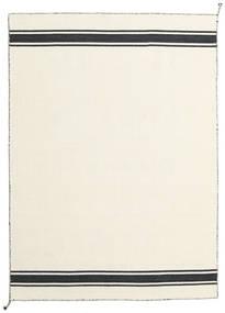 Ernst - オフホワイト/黒 絨毯 140X200 モダン 手織り ベージュ (ウール, インド)