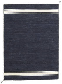 Ernst - Navy/オフホワイト 絨毯 140X200 モダン 手織り 紺色の/濃いグレー (ウール, インド)