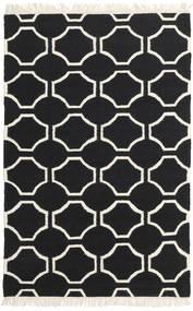 London - 黒/オフホワイト 絨毯 160X230 モダン 手織り 黒/ベージュ (ウール, インド)