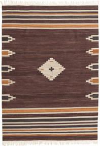 Tribal - 茶 絨毯 160X230 モダン 手織り 濃い茶色/深紅色の (ウール, インド)
