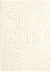 Woodyland - ベージュ 絨毯 160X230 モダン ベージュ/ホワイト/クリーム色 (ウール, インド)