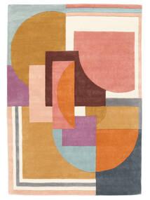 Arty - Multi 絨毯 140X200 モダン オレンジ/暗めのベージュ色の (ウール, インド)