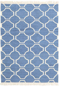London - 青/オフホワイト 絨毯 120X180 モダン 手織り 青/ベージュ (ウール, インド)