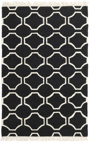 London - 黒/オフホワイト 絨毯 120X180 モダン 手織り 黒/ベージュ (ウール, インド)