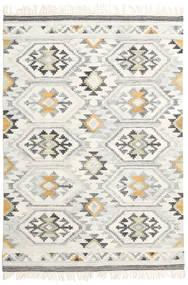 Mirzapur 絨毯 140X200 モダン 手織り 暗めのベージュ色の/ベージュ (ウール, インド)
