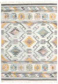 Mirza 絨毯 140X200 モダン 手織り 薄い灰色/ベージュ (ウール, インド)