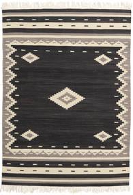 Tribal - 黒 絨毯 140X200 モダン 手織り 黒/ベージュ (ウール, インド)