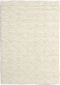 Romby - Off-白 絨毯 160X230 モダン 手織り ベージュ/暗めのベージュ色の (ウール, インド)
