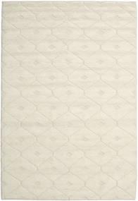 Romby - Off-白 絨毯 200X300 モダン 手織り ベージュ/暗めのベージュ色の (ウール, インド)
