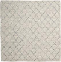 Rut - シルバー/グレー Melange 絨毯 250X250 モダン 手織り 正方形 薄い灰色/暗めのベージュ色の 大きな (ウール, インド)