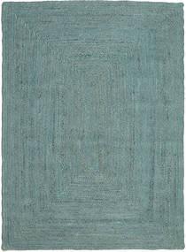 屋外カーペット Frida Color - ターコイズ 絨毯 140X200 モダン 手織り ターコイズブルー/ターコイズブルー ( インド)