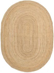 Frida Oval - ナチュラル 絨毯 140X200 モダン 手織り 暗めのベージュ色の/ベージュ ( インド)