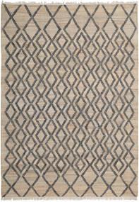 屋外カーペット Tekla Jute 絨毯 200X300 モダン 手織り 薄い灰色/濃いグレー ( インド)