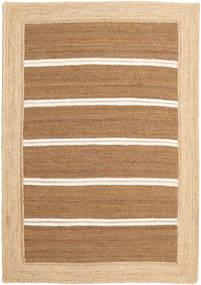 屋外カーペット Frida Stripe - 茶 絨毯 140X200 モダン 手織り 暗めのベージュ色の/ベージュ/薄茶色 ( インド)