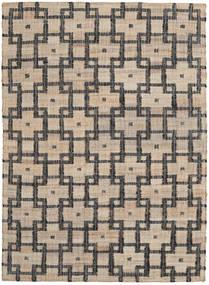 Tudor 絨毯 140X200 モダン 手織り 薄い灰色/濃いグレー ( インド)