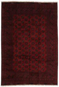アフガン 絨毯 196X289 オリエンタル 手織り 濃い茶色/深紅色の (ウール, アフガニスタン)