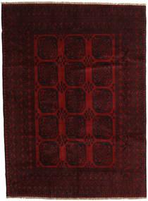 アフガン 絨毯 203X279 オリエンタル 手織り 濃い茶色/深紅色の (ウール, アフガニスタン)