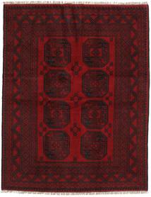 アフガン 絨毯 147X190 オリエンタル 手織り 深紅色の/濃い茶色 (ウール, アフガニスタン)