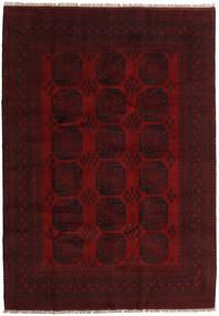 アフガン 絨毯 203X287 オリエンタル 手織り 濃い茶色/深紅色の (ウール, アフガニスタン)
