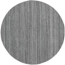 屋外カーペット Petra - Dark_Mix 絨毯 Ø 200 モダン 手織り ラウンド 薄い灰色/濃いグレー/青 ( インド)