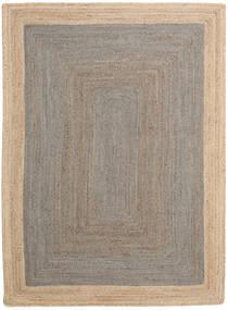 Frida Frame - グレー/ナチュラル 絨毯 140X200 モダン 手織り 薄い灰色/ベージュ ( インド)