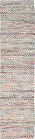 Tindra - Multi 絨毯 80X350 モダン 手織り 廊下 カーペット 薄い灰色/ライトピンク (ウール, インド)