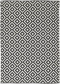 Torun - 黒/Neutral 絨毯 140X200 モダン 手織り 黒/薄い灰色 (綿, インド)