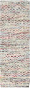Tindra - Multi 絨毯 80X250 モダン 手織り 廊下 カーペット 薄い灰色/暗めのベージュ色の (ウール, インド)