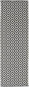 Torun - 黒/Neutral 絨毯 80X250 モダン 手織り 廊下 カーペット 黒/薄い灰色 (綿, インド)