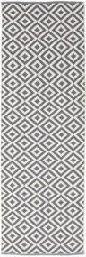 Torun - グレー/Neutral 絨毯 80X250 モダン 手織り 廊下 カーペット 薄い灰色/薄紫色 (綿, インド)