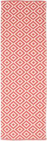 Torun - Coral/Neutral 絨毯 80X250 モダン 手織り 廊下 カーペット 赤/ライトピンク (綿, インド)
