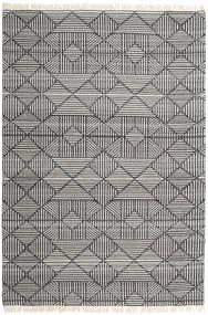 Mauri 絨毯 200X300 モダン 手織り 濃いグレー/薄い灰色 (ウール, インド)