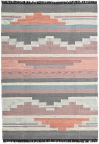 Misha 絨毯 200X300 モダン 手織り 濃いグレー/薄紫色 (ウール, インド)