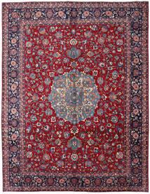 マシュハド 絨毯 297X381 オリエンタル 手織り 深紅色の/濃い紫 大きな (ウール, ペルシャ/イラン)