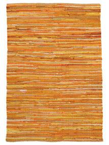 Ronja - 黄色 絨毯 140X200 モダン 手織り 暗めのベージュ色の/オレンジ (綿, インド)