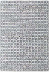 Elna - グレー 絨毯 140X200 モダン 手織り 薄い灰色/水色 (綿, インド)