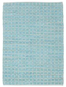 Elna - Bright_Blue 絨毯 140X200 モダン 手織り 水色/ターコイズブルー (綿, インド)