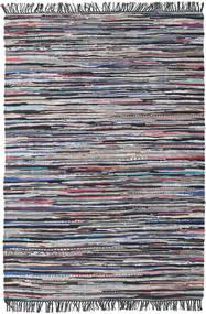 Cottolina - 黒/Multi 絨毯 140X200 モダン 手織り 濃いグレー/薄い灰色 (綿, インド)